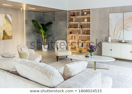 Contemporary table and seating area Stock photo © 3523studio