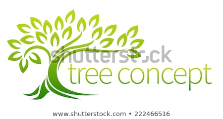 Stylised green leaves on a branch Stock photo © Amosnet