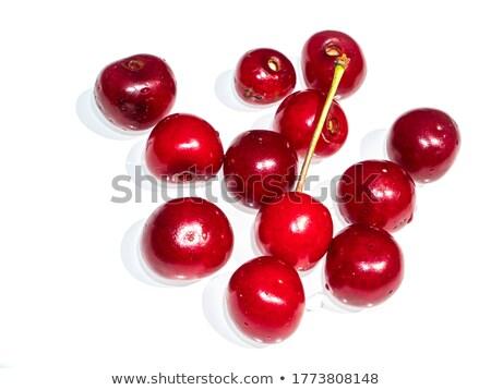 Сток-фото: сочный · рубин · красный · вишни · весны · саду