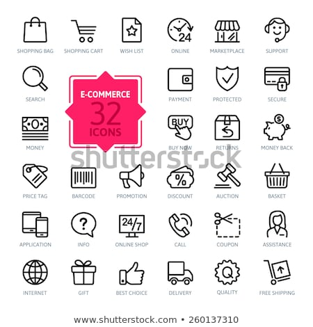 E-commerce box and shopping bag icons Stock photo © graphit