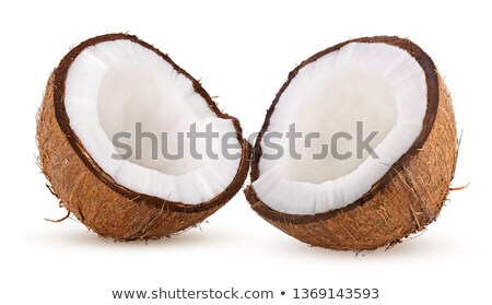 two halfs of coconut isolated on white Stock photo © ozaiachin