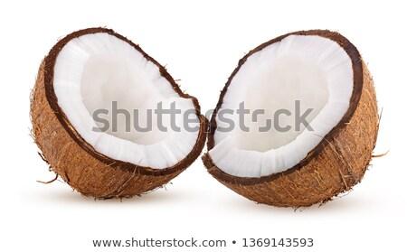 кокосового · кокосовое · молоко · всплеск · дерево · фон · пить - Сток-фото © ozaiachin