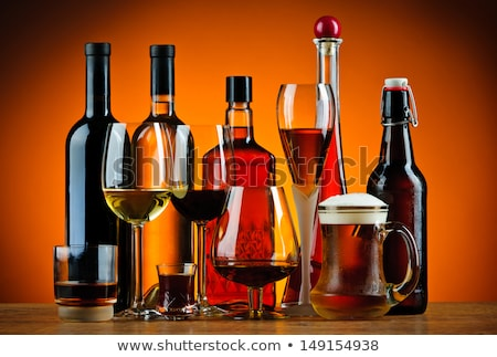 different glasses with alcoholic drinks stock photo © ozaiachin