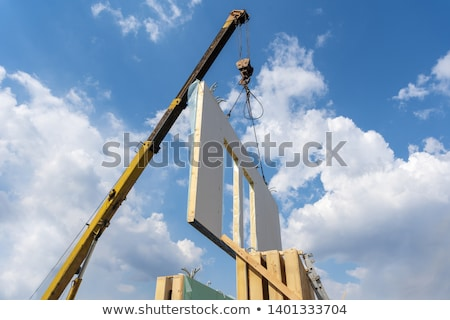 montage of construction cranes stock photo © photography33