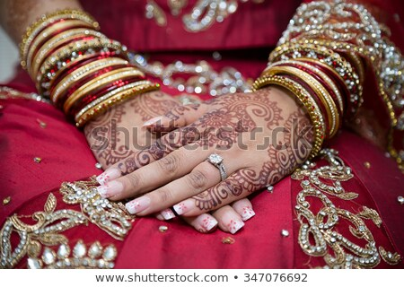 Indian bride's hand Stock photo © szefei