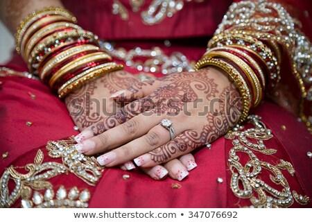 tradicional · ilustración · arte · familia · boda - foto stock © szefei