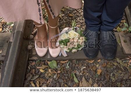 Bacaklar çift ayakkabı eski sığ Stok fotoğraf © foto-fine-art