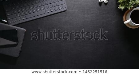 fekete · toll · notebook · fotó · lövés · üzlet - stock fotó © jirkaejc