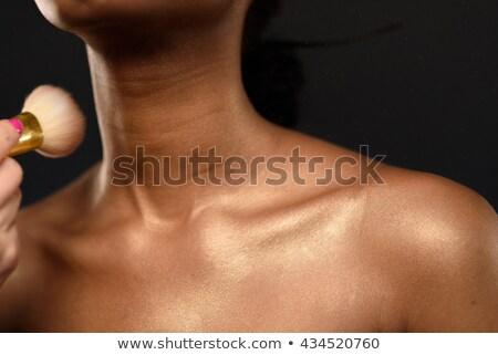 corpo · cuidar · mulher · jovem · creme · banheiro - foto stock © candyboxphoto