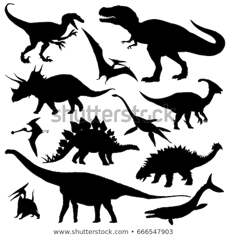 silhouette of tyrannosaurus stock photo © perysty