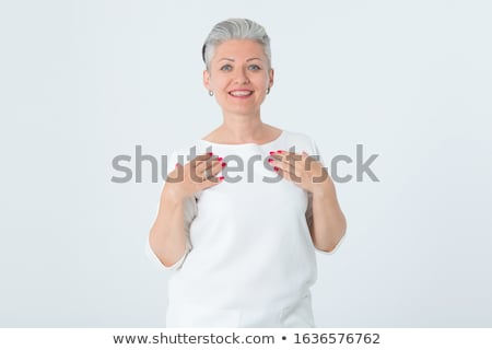woman with short haircut stock photo © lubavnel