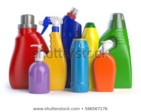 зеленый очистки моющее средство бутылку изолированный белый Сток-фото © shutswis