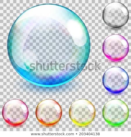 iridescent glass beads Stock photo © prill