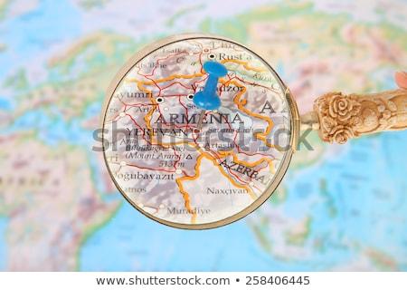 Armênia papel arte bandeira carta carimbo Foto stock © perysty