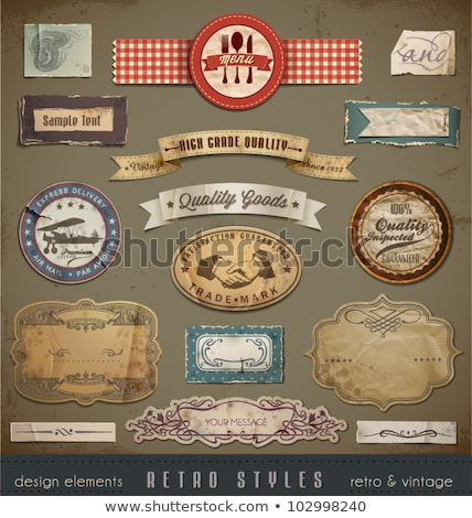 Vintage Retro Labels Stock photo © rtguest