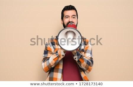 craftsman shouting through a megaphone stock photo © photography33