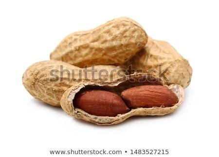 peanuts on white background stock photo © haraldmuc