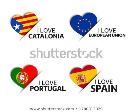spain love   set of vector icons stock photo © marish