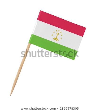 Miniature Flag of Tajikistan (Isolated) Stock photo © bosphorus