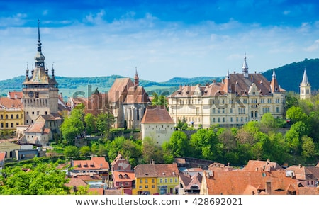 rooftops of sighisoara in romania Stock photo © travelphotography