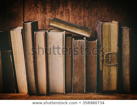 rij · oude · boeken · geïsoleerd · witte - stockfoto © toaster