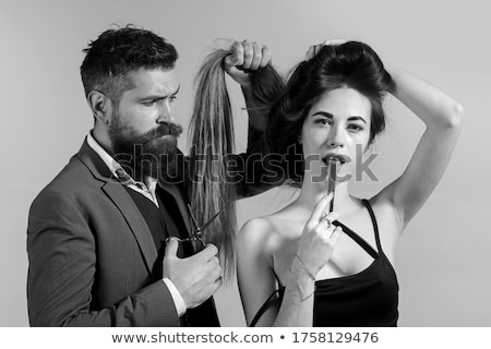 Funny Coiffeur Stock photo © pcanzo