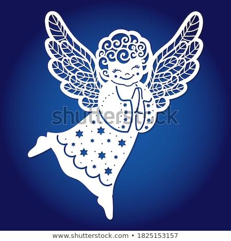 ангела закат Библии Бога статуя небо Сток-фото © umbertoleporini