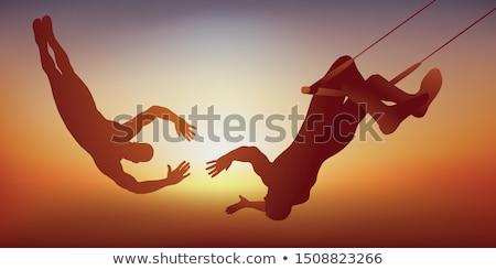 Trapeze Fall Stock photo © blamb