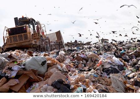 bulldozer · travail · déplacement · ordures - photo stock © Rob300
