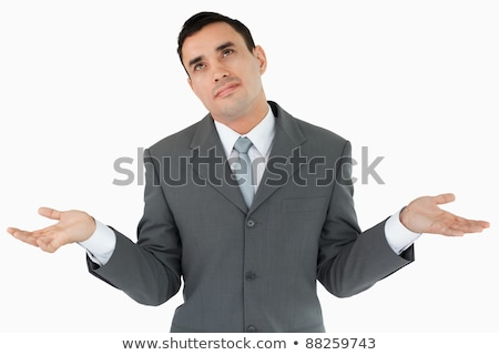 Businessman has no clue against a white background Stock photo © wavebreak_media