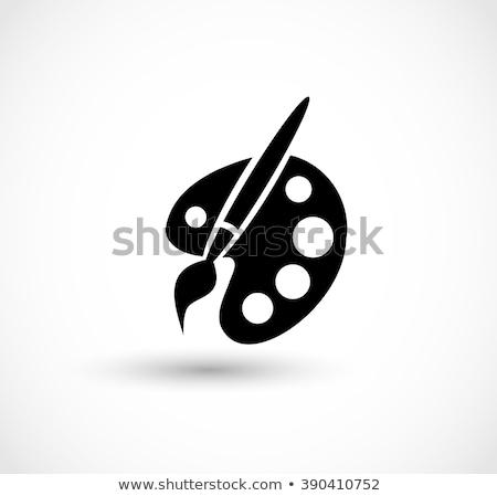 artístico · paleta · vetor · imagem · desenho · animado - foto stock © perysty
