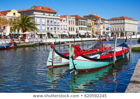 ポルトガル 典型的な ボート 水 空 風景 ストックフォト © dinozzaver