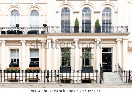inglês · casas · vermelho · tijolo · parede - foto stock © hofmeester