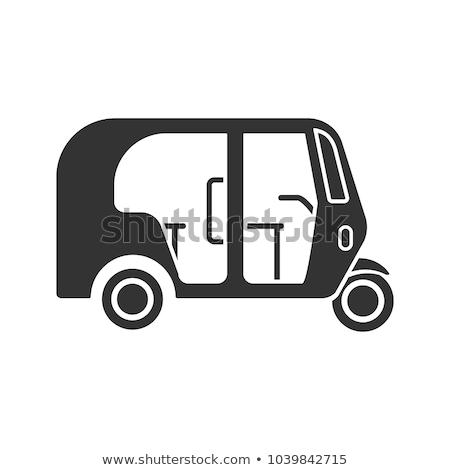Vektör ikon üç tekerlekli bisiklet çocuk Stok fotoğraf © zzve