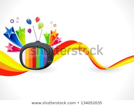 abstrato · colorido · mídia · música - foto stock © pathakdesigner