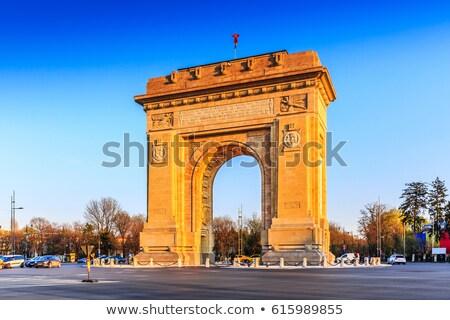 Бухарест арки Румыния здании облаке архитектура Сток-фото © TanArt