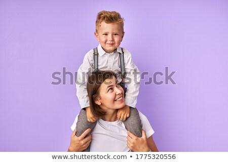 szczęśliwy · matka · baby · syn · patrząc · na · zewnątrz - zdjęcia stock © hasloo