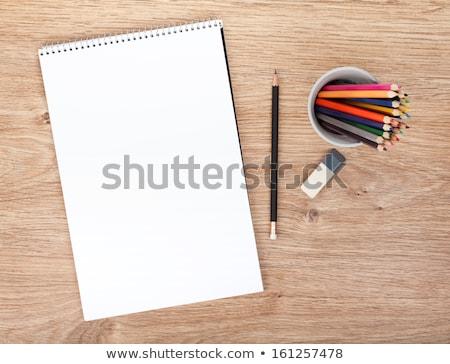 紙 鉛筆 実例 eps ベクトル ファイル ストックフォト © obradart