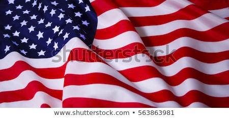 Stok fotoğraf: Wavy American Flag