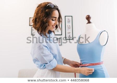 小さな · ファッション · デザイナー · かなり · 少女 · 立って - ストックフォト © luminastock