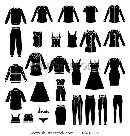 Női lábak fekete bikini bugyik kép Stock fotó © dolgachov