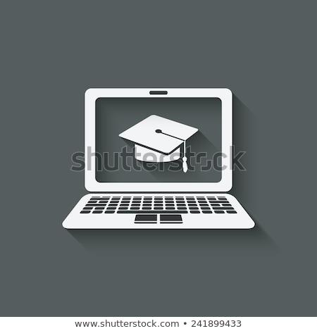 онлайн · обучения · кнопки · современных · слово - Сток-фото © kbuntu