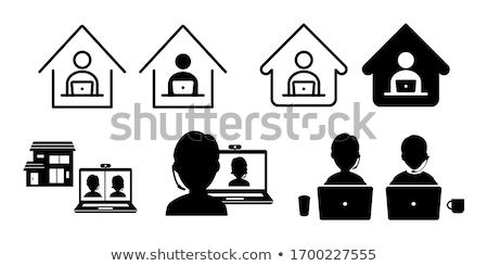Illustration of house home icon clipart Stock photo © Krisdog