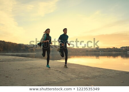 jogging at lake Stock photo © val_th