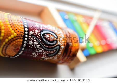 Renkli yağmur el yapımı ahşap satış açık Stok fotoğraf © rhamm