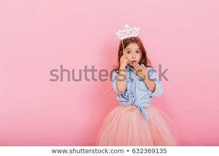 Hercegnő rózsaszín szoknya színes rajz illusztráció Stock fotó © derocz