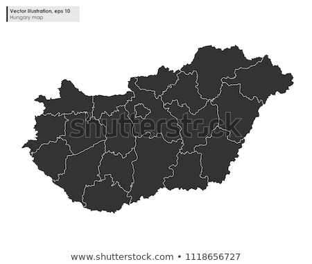 Black Hungary map Stock photo © Volina