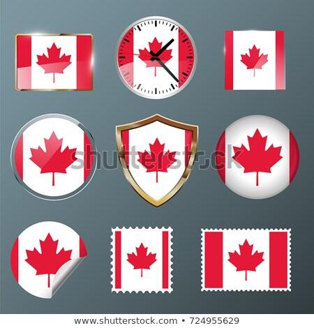 ayarlamak · düğmeler · Kanada · parlak · renkli - stok fotoğraf © flogel