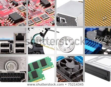 Collage différent ordinateur composants rouge numérique Photo stock © pxhidalgo