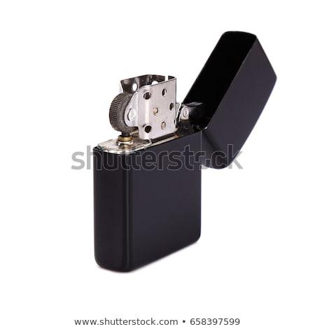 Plata metal encendedor establecer luz humo Foto stock © pxhidalgo